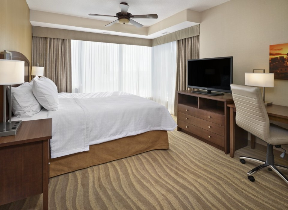 The comfort of the Homewood Suites, by Hilton