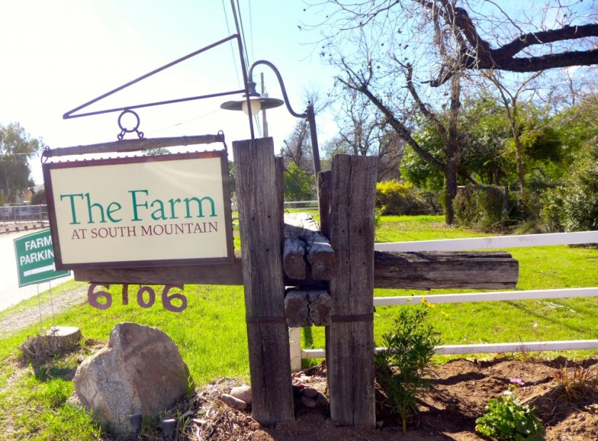 Entrance to The Farm at South Mountain, Photo Maralyn D. Hill
