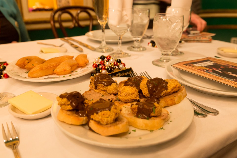 A selection of appetizers at Antoine's