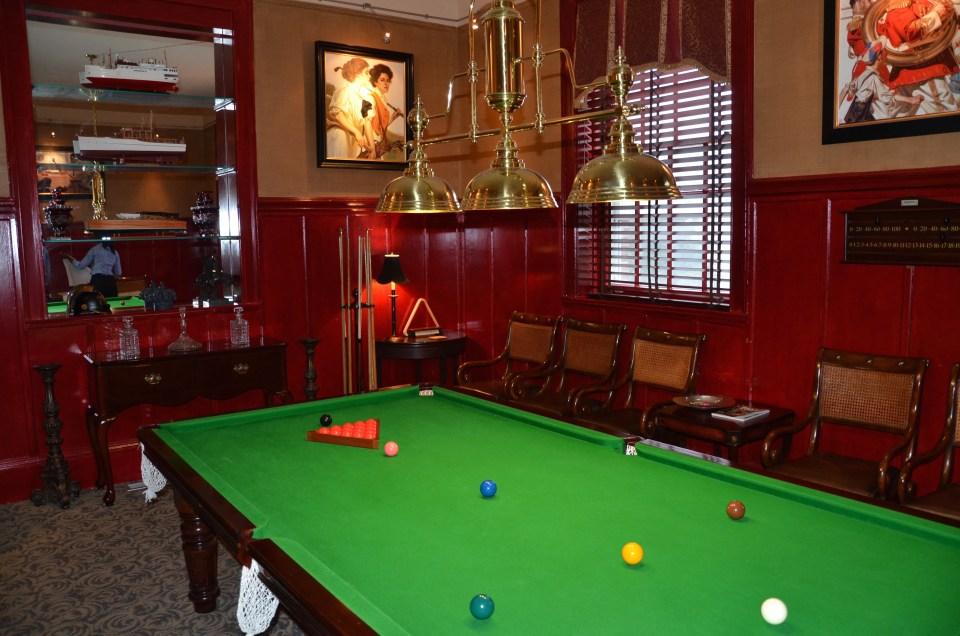 The Billiards Room at the Vanderbilt Grace Hotel.