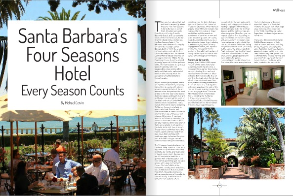 Santa Barabara's Four Seasons Hotel by Michael Cervin (Luxe Beat Magazine October 2014)