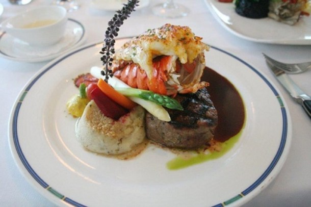 Black Angus filet and Maine lobster
