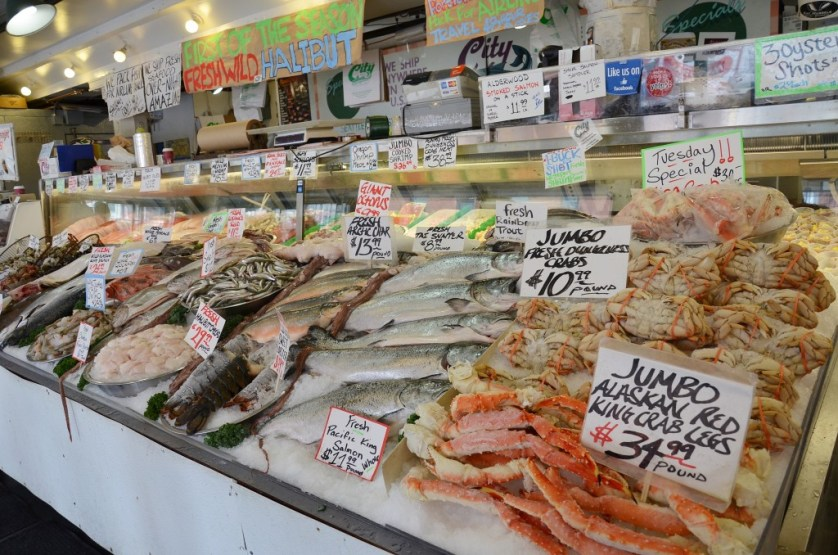 Fresh fish at Pike Place Market