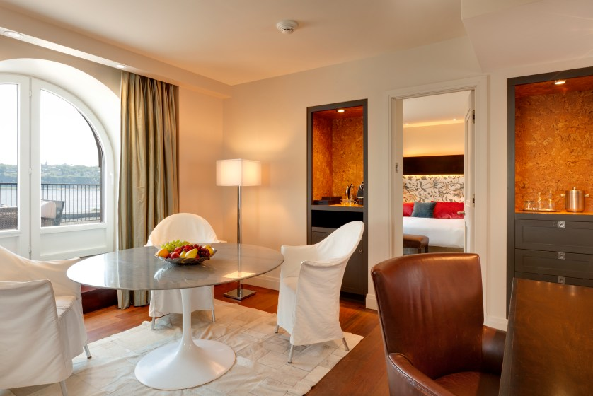 One of eleven luxury suites at Auberge Saint-Antoine