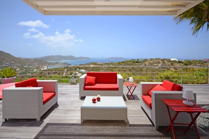 Villa Ti Acerola Outdoor Living - Credit St. Barth Properties, Inc.