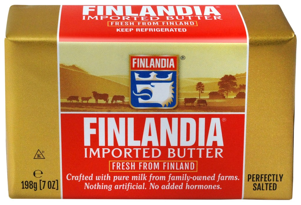 Finlandia Imported Butter Salted sam the cooking guy
