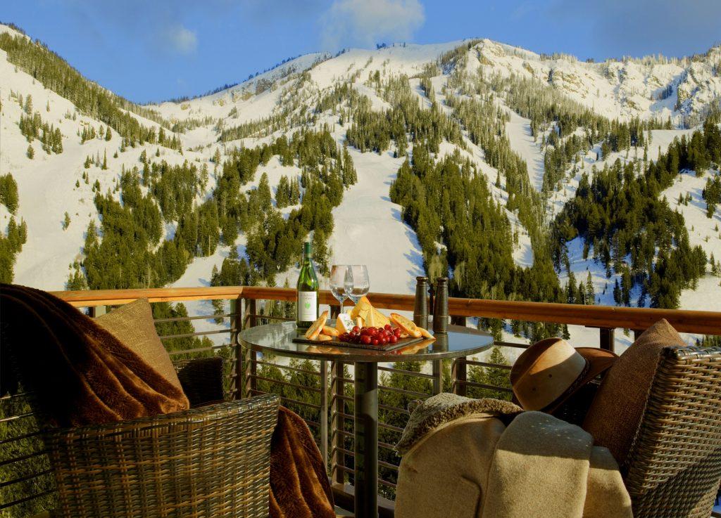 Hotel Terra Jackson Hole Winter Balcony Mountain View