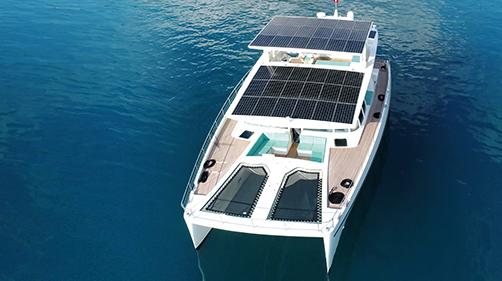 74-foot Serenity Solar Yacht -$7,100,000 Neiman Marcus 2018 Christmas Book