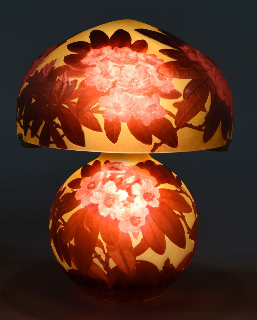 Morphy Auctions Rhododendron lamp