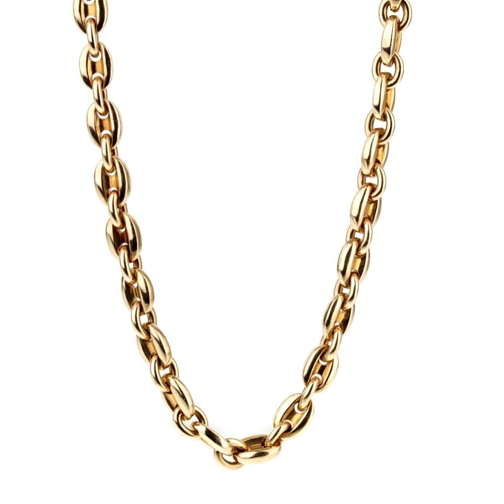 Cartier Sautoir Gold Necklace & Bracelet Set