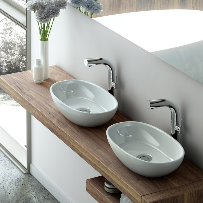 Victoria + Albert Barcelona 48 basin in volcanic limestone is distributed in Queensland by Luxe by Design, Brisbane.