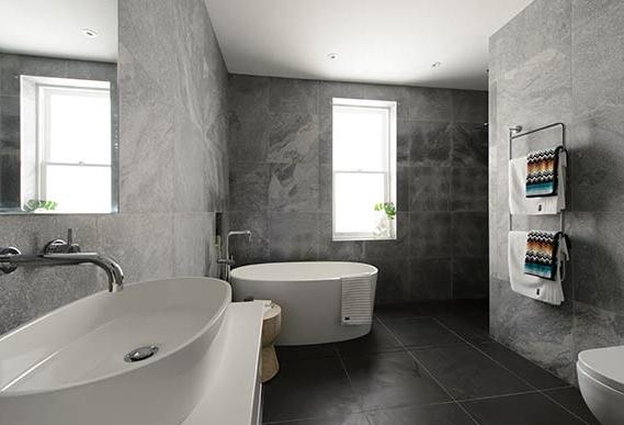 View Larger Image The Block 2012 Dan And Dani Bathroom Featuring Victoria Albert Ios Bath
