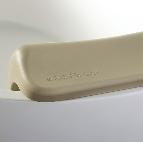 Victoria + Albert Ios and Edge bath Luxury backrest is distributed in Queensland by Luxe by Design, Australia.