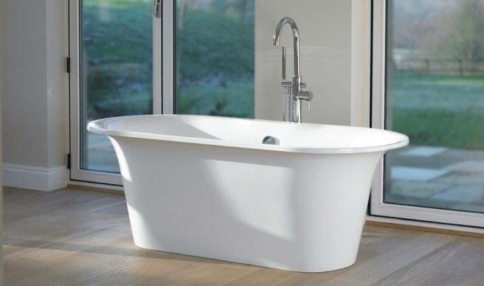 Victoria + Albert Monaco bath in volcanic limestone is distributed in Quenesland by Luxe by Design, Brisbane.