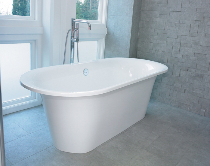 Victoria + Albert Monaco bath in volcanic limestone is distributed in Quenesland by Luxe by Design, Brisbane.