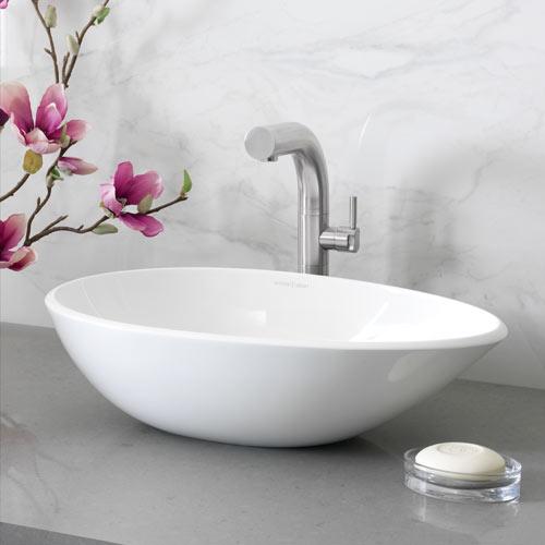 Victoria + Albert Napoli 57 stone basin - distributed in Australia by Luxe by design, Brisbane.