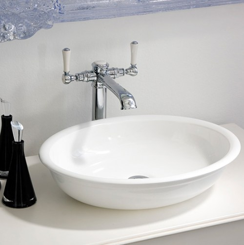 Victoria + Albert Radford 51 basin in volcanic limestone is distributed in Queensland by Luxe by Design, Brisbane.