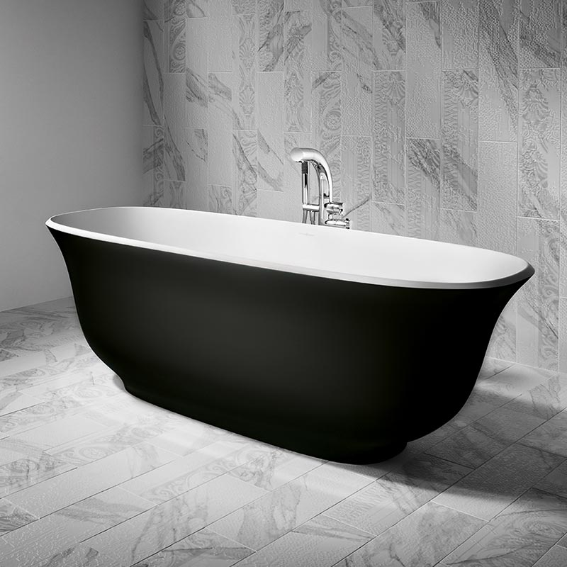 Victoria + Albert Amiata matte black bath in matte black by Luxe by Design, Brisbane.