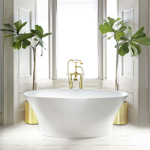 Victoria + Albert Ionian stone bath - distributed in Australia by Luxe by design, Brisbane.