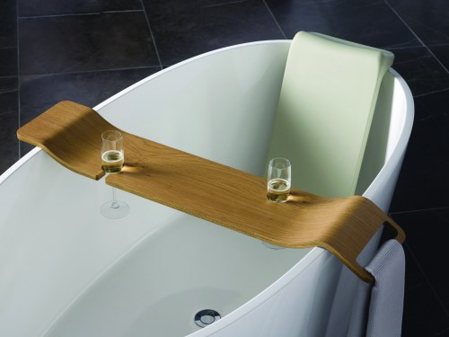 Victoria + Albert Tombolo 10 Oak bath caddy is distributed in Queensland by Luxe by Design, Australia.