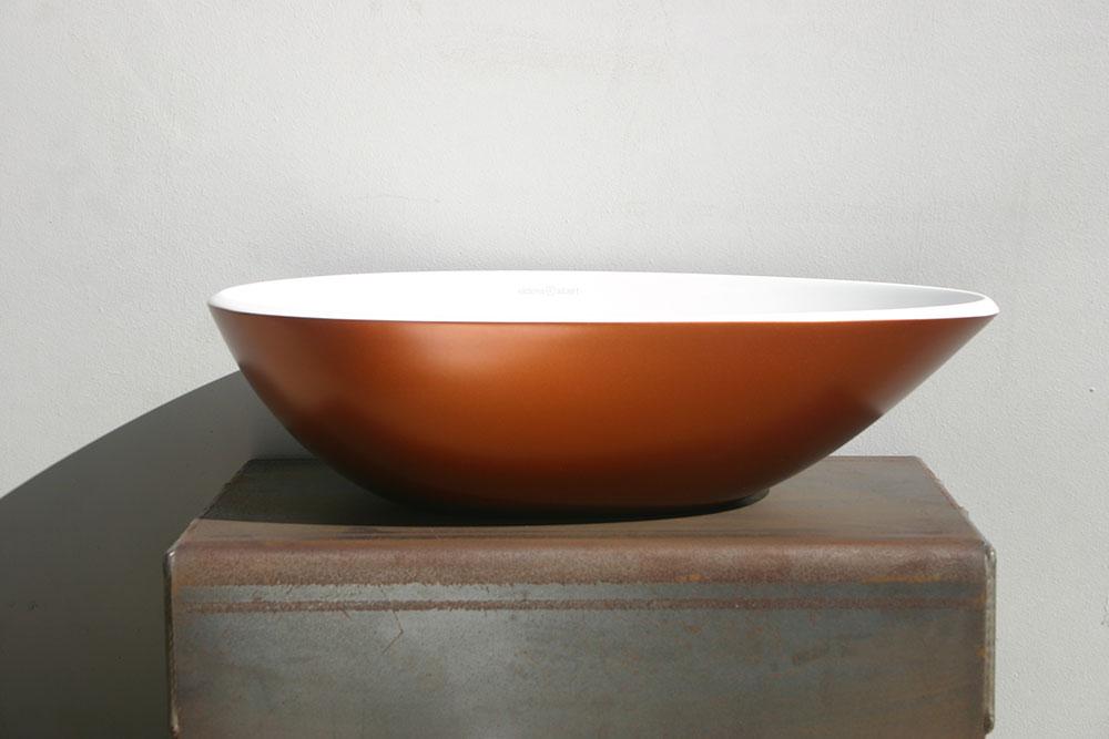 Victoria + Albert Napoli basin in copper by Luxe by Design, Brisbane.