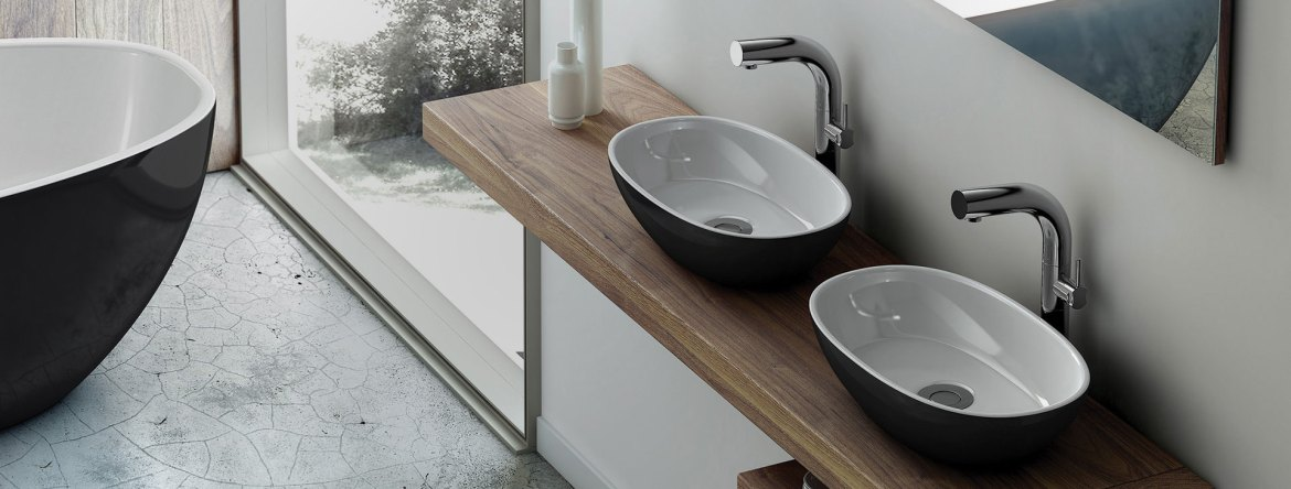 Victoria + Albert Black Barcelona basins are distributed to Sydney, Melbourne, Brisbane, Canberra and Hobart by Luxe by Design.