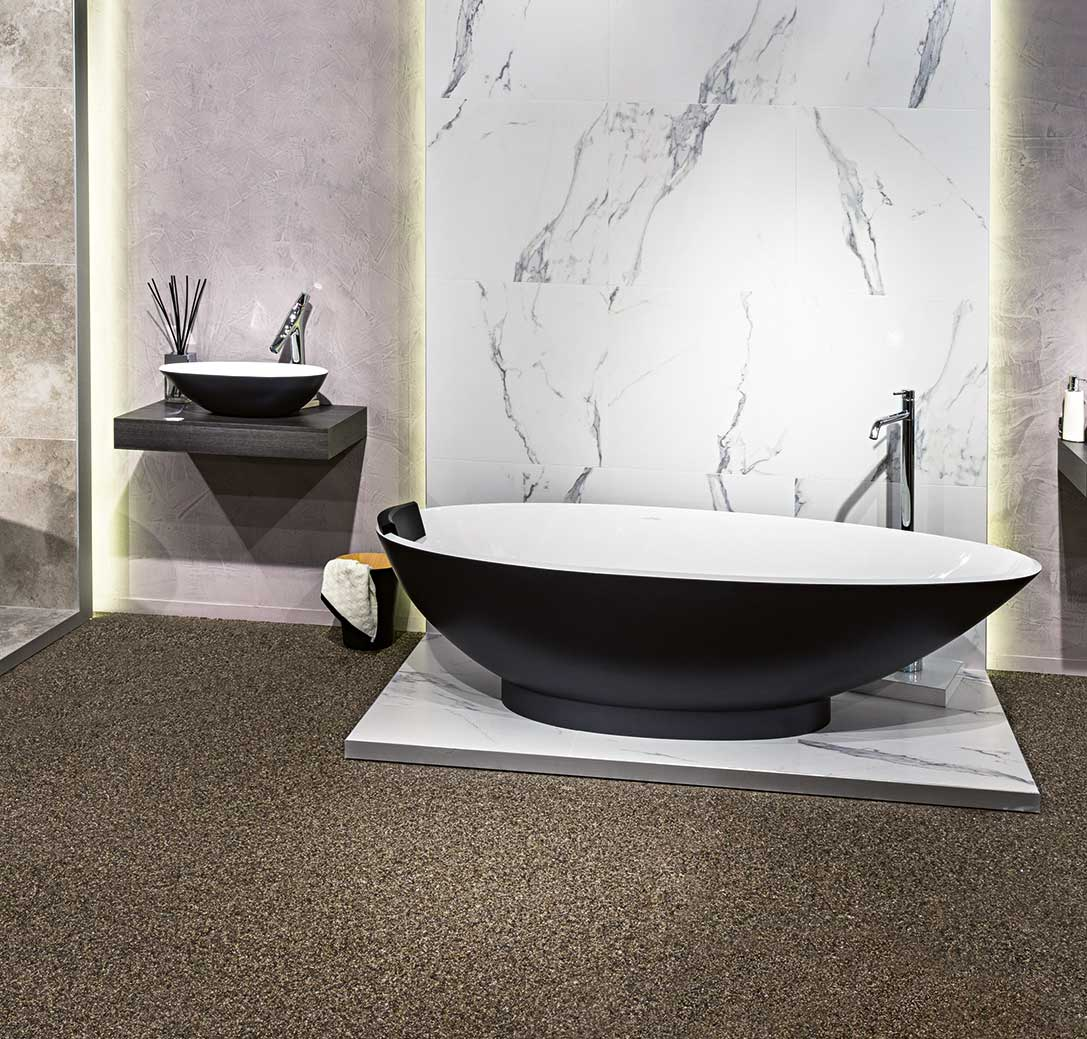Victoria + Albert napoli bath and basin in gloss black by Luxe by Design, Brisbane.