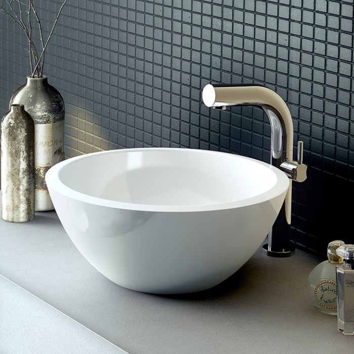 Victoria + Albert Maru 42 basin is distributed to Sydney, Melbourne, Brisbane, Canberra and Hobart by Luxe by Design.