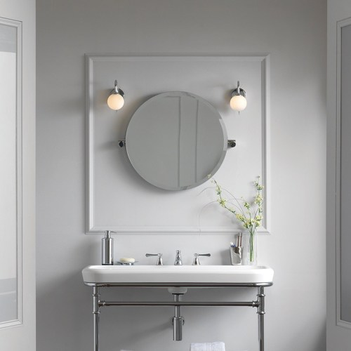 Victoria + Albert Anatolia 55 round mirror. Distributed in Australia by Luxe by Design, Brisbane.