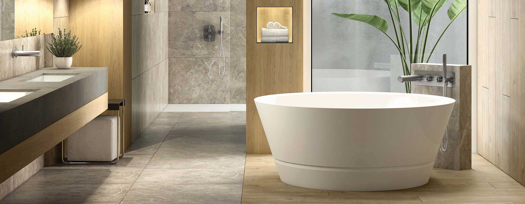 Victoria + Albert Taizu round bath. Distributed in Australia by Luxe by Design, Brisbane.