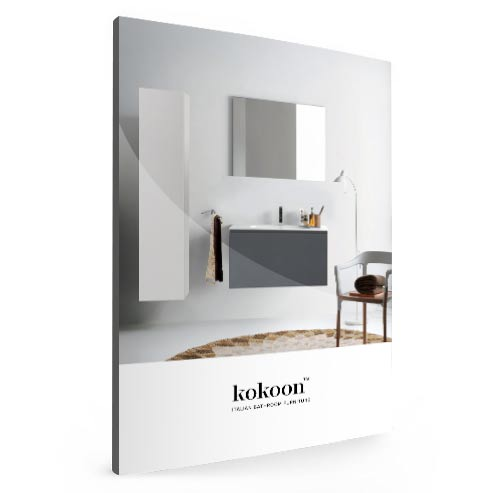 Kokoon bathroom furniture catalogue. Italian bathroom furniture with stone tops- Distributed by Luxe by Design, Brisbane.