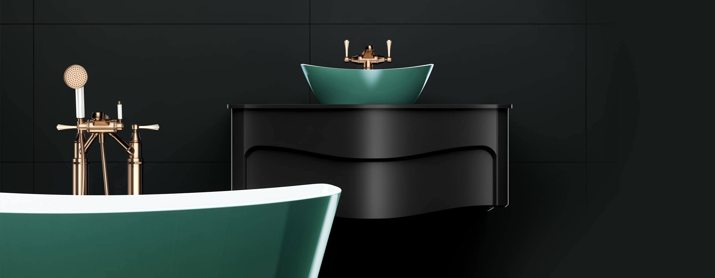 Victoria + Albert custom painted baths and basins - distributed in Australia by Luxe by Design Brisbane.