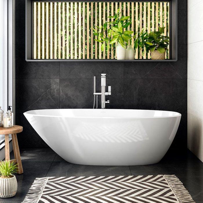 Victoria + Albert Mozzano 2 larger freestanding bath. Distributed in Australia by Luxe by Design, Brisbane.