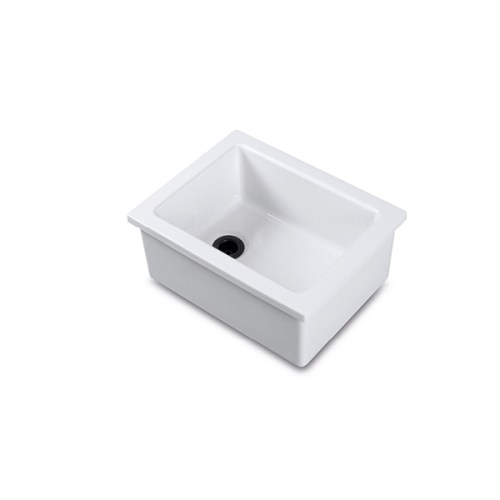 Shaws Laboratory type 4 sink. Fireclay sink for labs, schools and professional kitchens by Shaws of Darwen, England. Imported and distributed in Australia by Luxe by Design, Brisbane.