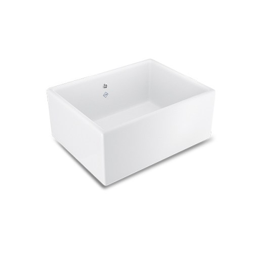 Shaws Shaker Single 600 Sink. 600mm single bowl fireclay butler sink by Shaws of Darwen, England. Imported and distributed in Australia by Luxe by Design, Brisbane.