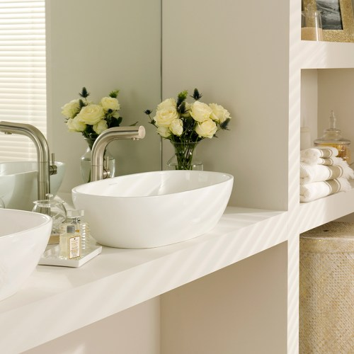 Victoria + Albert Barcelona 64 matte white stone basin, distributed in Australia by Luxe by Design, Brisbane.