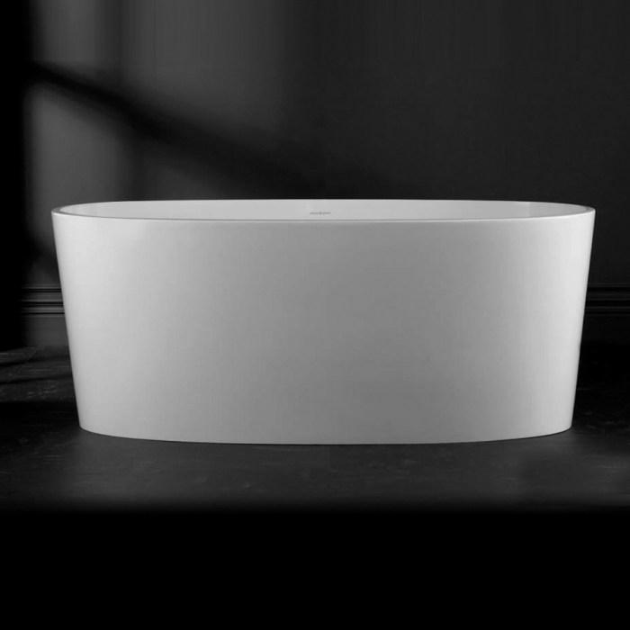 Victoria + Albert Ios matte white stone bath, distributed in Australia by Luxe by Design, Brisbane.