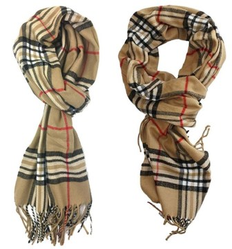 Classic Cashmere Feel Burberry Scarf Dupes