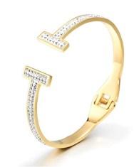 Gold Tiffany T Bracelet Look-Alike