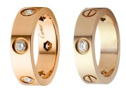 Cartier 6mm Rose Gold Diamond Love Ring Dupes