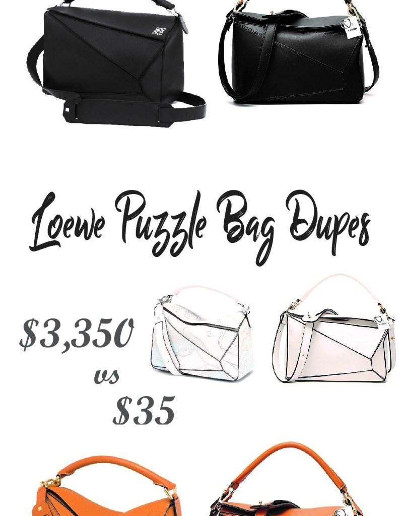 Incredible Loewe Puzzle Bag Dupes Under $35