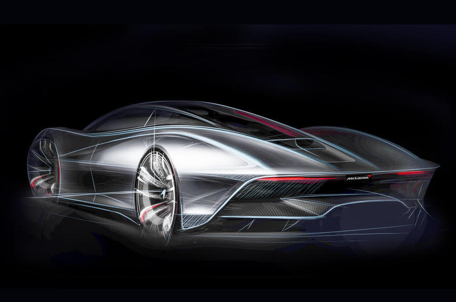 McLaren showed the picture of the new supercar