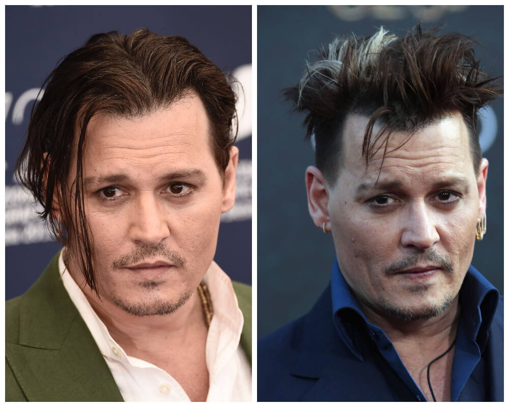 Johnny Depp Celebrities, who made disheveled hair as Signature Style 6