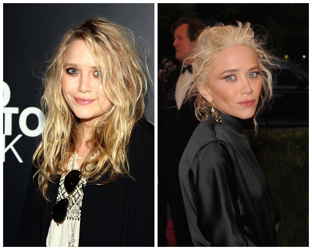 Mary-Kate Olsen Celebrities, who made disheveled hair as Signature Style 4
