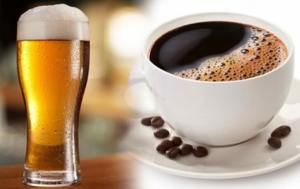 Drink alcohol, coffee and tea