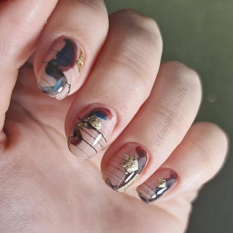 pider web gel Summer Nail Designs