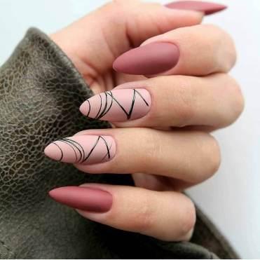 Trendy Office Spider Web Gel Manicure