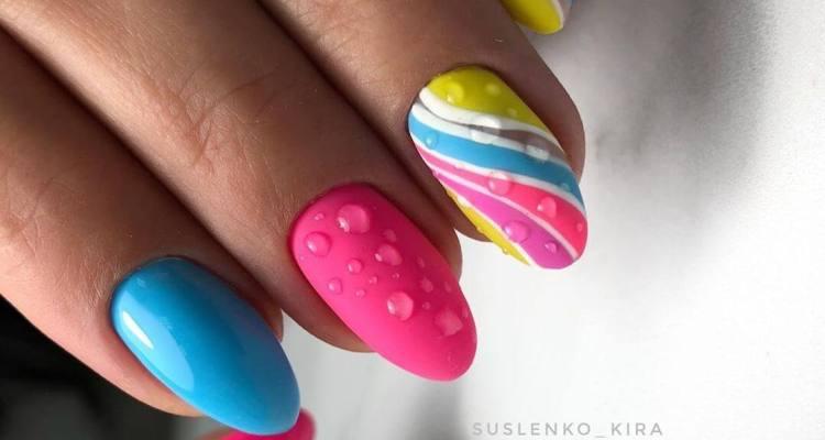 Bright summer manicure Nails Designs