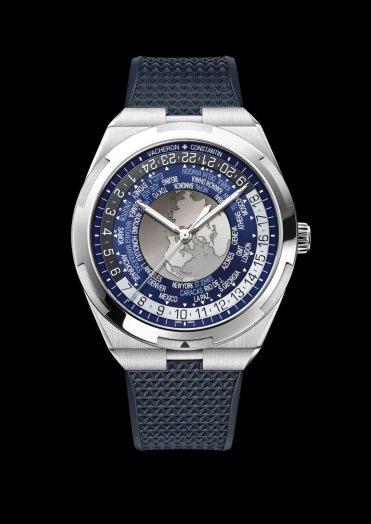 World Time Overseas 7700V-110A-B172bracelet caoutchouc