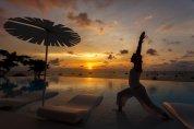 LuxeGetaways - Luxury Travel - Luxury Travel Magazine - Luxe Getaways - Luxury Lifestyle - Luxury Villa Rentals - Affluent Travel - Kata Rocks Phuket Thailand - sunrise yoga by pool